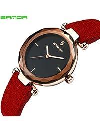 80633a1ddb3c sportuhr Sanda Retro Reloj de Cuarzo Resistente al Agua Mate Femenino Reloj  de muñeca de Moda
