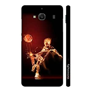Enthopia Designer Hardshell Case Football on Fire Back Cover for Xiaomi Redmi 2S