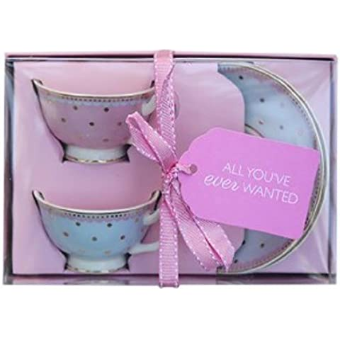 Bombay Duck Miss Darcy (Miss Woodhouse) Mini Teacups and Saucers Set of 2 by Bombay Duck