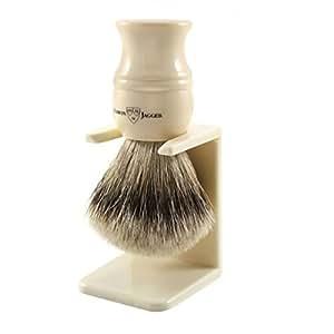 Edwin Jagger Super Badger Hair Shaving Brush and Stand