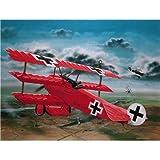 """Revell Modellbausatz Flugzeug 1:28 - Fokker Dr.1 """"Manfred von Richthofen"""" im Maßstab 1:28, Level 4, originalgetreue Nachbildung mit vielen Details, 04744"""