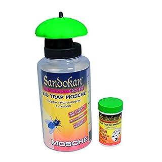 Sandokan SAN7646 Wespenfalle Bio-Falle 1 Flasche mit attraktiven 1 Haken zum Aufnehmen Fliegen//bleibt Frelons