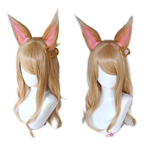 Perücke Frau Perücke Cosplay Perücke Lange Gerade Blonde Gold Haar Ohren Frauen Anime Perücken -