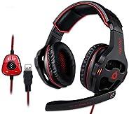KLIM Mantis Gaming Headset - USB | Headset mit Mikrofon für PC, PS4, PS5, Nintendo Switch, Mac + 7.1 Surround