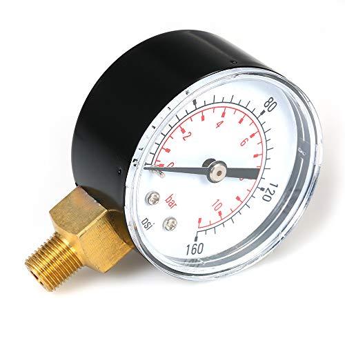 Fesjoy Dual Scale Mechanische Manometer 0~160 psi 0~11bar 1/8 zoll NPT Bottom Mount Pool Filter Aquarium Wasser Luftdruckprüfer Gas Manometer Meter -