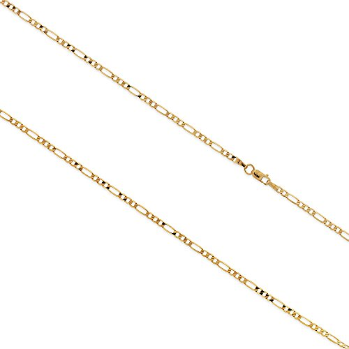 gioiello-italiano-14kt-yellow-gold-figaro-chain