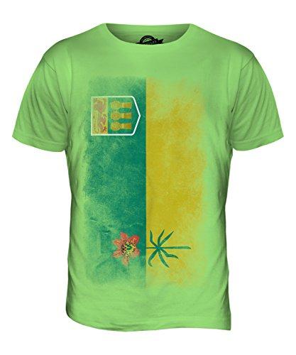 CandyMix Saskatchewan Verblichen Flagge Herren T Shirt Limettengrün