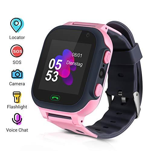 Openuye Niños Smartwatch, Smartwatch Phone con rastreador LBS, SOS, Pantalla táctil LED...