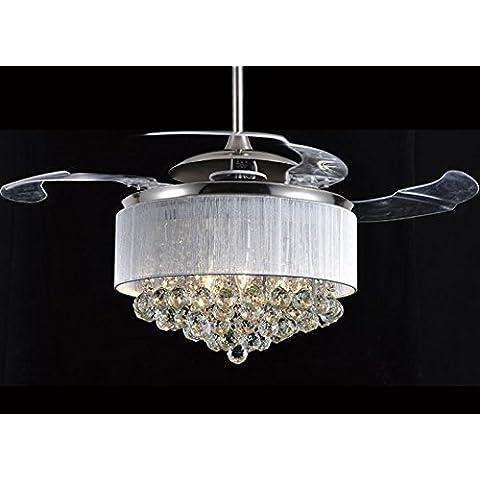 CHJK BRIHT La furtività Ventilatore da soffitto LED crystal moderno