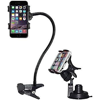 bestek support t l phone et support t l phone voiture ventouse lot de 2 pour iphone 6s 6 5. Black Bedroom Furniture Sets. Home Design Ideas