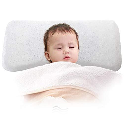 Oreiller Bébé,Coussin Enfant 0-36 mois par lits Il aide le traitement de la tête plate, mémoire...
