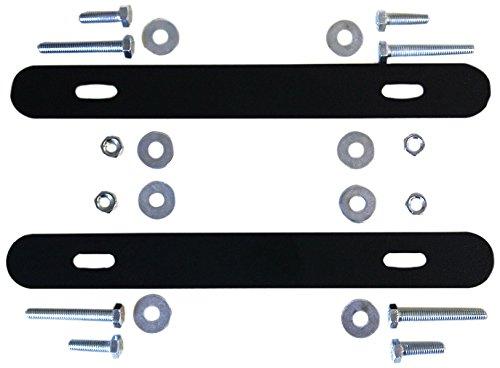 Alubox 19tr220Kit von Querstreben für die Befestigung auf Zaun der Briefkasten Mia, schwarz (Für Zaun Briefkasten)
