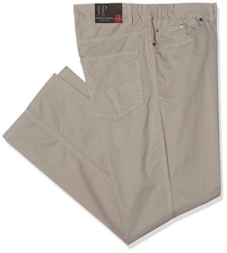 JP 1880 Herren große Größen bis 70 | Hose aus Baumwolle | Nano-Hose mit Stretch-Komfort | Regular-Fit | Outdoor Stoffhose | 708346 Beige (Anthrazit 12)