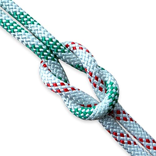 Cabo Rope by Lalizas 8mm vorgerecktes Yacht Tauwerk Fall Leine 1460 daN div. Farben, Farbe:weiß - rot -