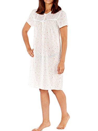 Lady Selena Damen Nachthemd Korallenrot