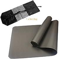 Preisvergleich für Geschmacklose nbr faltbare yoga matte übung pad boden spielmatte + strap + net tasche für gym klasse workout gymnastik liefert