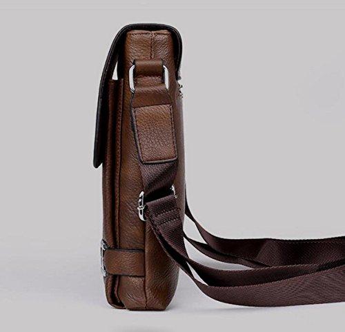Männer Beutel Schulter Beiläufige Beutel Kurierbeutel Vertikale Abschnitt Geschäftspaket Aktenkoffer Handtasche Brown