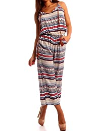 Damen Overall Jumpsuit Ankle-Length Hippie Flair