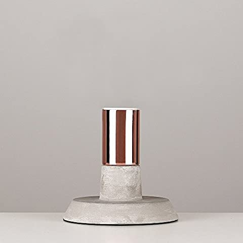 Contemporary Copper & Cement / Stone Effect Table Lamp Base