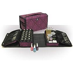 Roo Beauty Double-It - Maletín para accesorios de manicura, color morado
