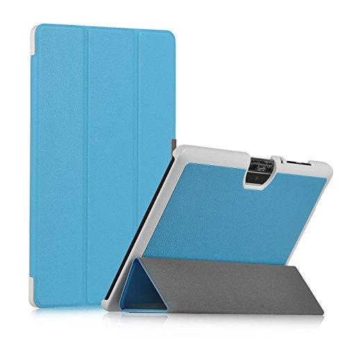 Acer Iconia One 10 B3-A30 Hülle, IVSO Ultra Schlank Superleicht Ständer Slim Leder zubehör Schutzhülle für Acer Iconia One 10 (B3-A30) 25,7 cm (10,1 Zoll HD) Tablet-PC perfekt geeignet (Für Acer Iconia One 10 (B3-A30), Blau)