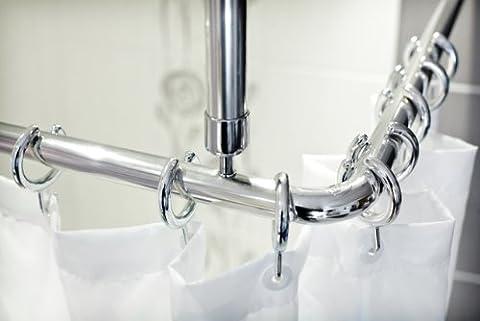 3 pièces de perche angulaire alu sans barrières lumineuses - pousser comfortable du rideau sans barrières - perche pour rideau de douche