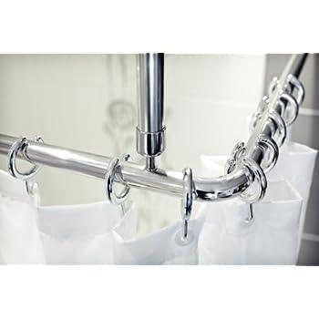 Tropik Home Shower Curtain Rail Rod 4 Way Use L Or U