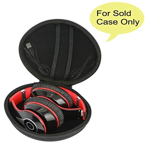 Hart Reise Schutz Hülle Etui Tasche für Mpow On-Ear Bluetooth Overhead-Headset Stereo Wireless Kopfhörer von co2CREA (Schwarz)