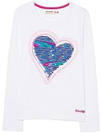 Desigual Mädchen T-Shirt TS_Sequins