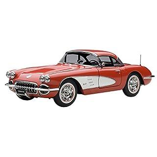 AUTOart–71148–Chevrolet Corvette–1958–1/18–Rot/Weiß