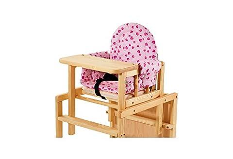 Pinolino 58350-7S - Sitzverkleinerer Komfort, Stoff Herzchen