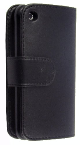 Für Apple iPhone 3G 3GS VERSCHIEDENE PU LEDER magnetisch Flip Case Cover + Gratis STYLUS, Kunstleder, Schwarz Book, APPLE IPHONE 3G 3GS Schwarz Book