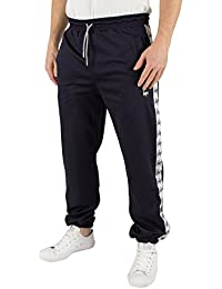 Hype Homme Sporting Vertical Stripes Joggers, Bleu