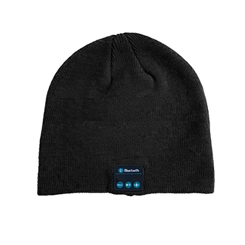 Z-P Unisex Fshion New Style Knitted Warm Hat Bluetooth Stereo Music Hat (Lambswool Angora)