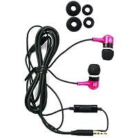 Langston ® Rosa / Negro Metal Auriculares in ear de Alta Definición Sonido Estéreo con Micrófono para Utilizar con Manos Libres apto para Samsung Galaxy Core II