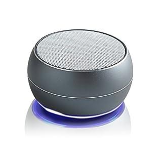 Aznoi 3W Mini Bluetooth Lautsprecher mit hochqualitative Aluminiumgehäuse, Kabellos 4.0 Bluetooth Version untersützt FM Radio, TF-Karte, mit USB-Anschluss AUX-Ausgang ideal Speaker für Reise, zu Hause oder Auto. (Schwarz)