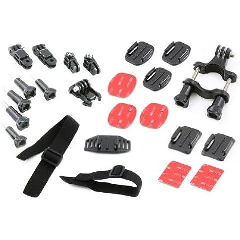 Accessori per il montaggio - kit di 24 elementi - per GoPro HD | GoPro HD HERO 2 | GoPro HD HERO 3 | GoPro HERO 3+