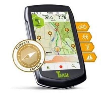 TEASI one³ eXtend Outdoor-Navigationsgerät mit Bluetooth, Kompass und Europakarte