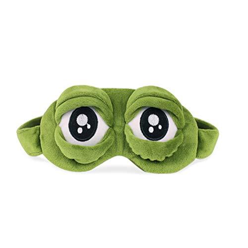 (Sumferkyh Frosch Augenmaske/Schlafmaske, Luxus Beruhigende 3D Schlafaugenmaske mit Innentasche für Kinder, Freundin, Männer, Frauen, Familie und Kinder (Care Eyes) Schlafmaske für Männer & Frauen,)