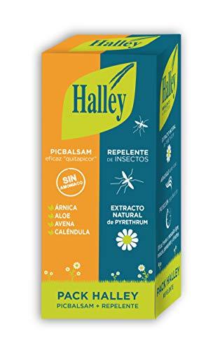 HALLEY Pack Repelente Insectos + Loción Alivio de Picor | Ideal para Todo Tipo de Picaduras de Insectos e Irritación por Contacto con Plantas