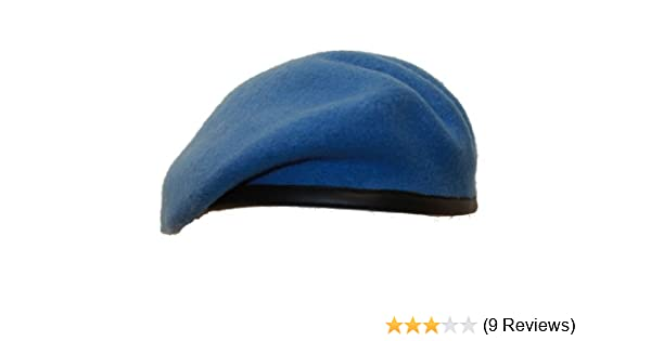 bf110b6d1f456 United Nations UN Beret Sky Light Blue Army Military (53cm)  Amazon.co.uk   Clothing