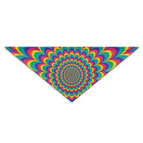 Psychedelische Kostüm - Psychedelische Blumenmuster Hund Bandanas Schals Dreieck Lätzchen Schals Lovely Basic Dogs Halstuch Cat Collars