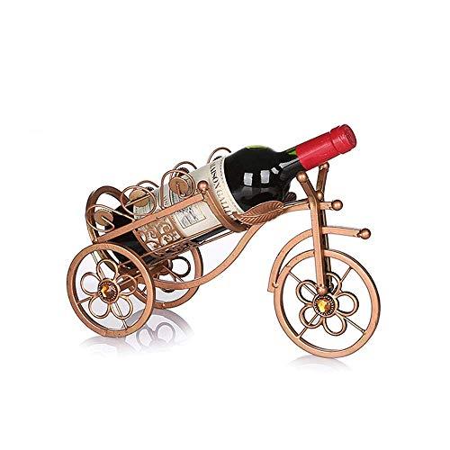 Weinregal mit Anti-Kortex-Halterung, europäischer Stil, für Haushalt, kleine Weinflaschenschrank, Gitter, Aufbewahrungsregal, Wohnzimmer, Dekoration, Regal B - Für Gefrierschrank Rack Metall