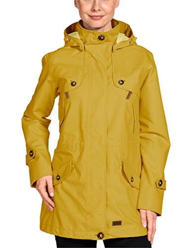Jack Wolfskin Damen Mantel Queenstown Coat Women, Yellow Moss, XXL, 1104982-3049006