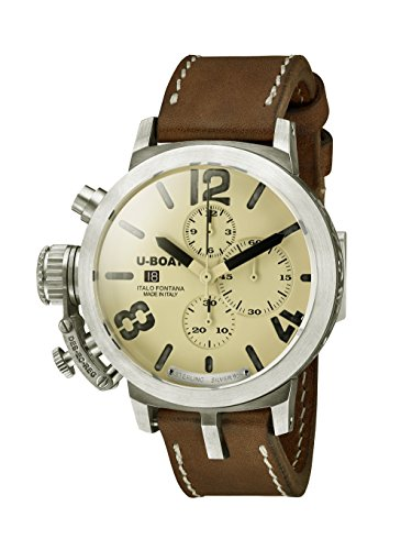 U-Boat Men's Chronograph Automatic Watch with Leather Strap 7452.0