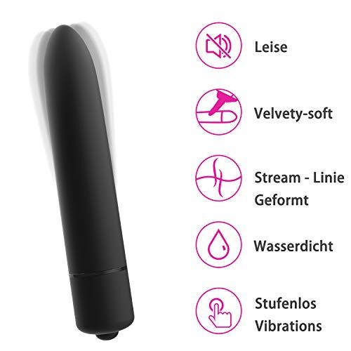 Mini-Vibrator-Massagegerät, ruhiger Kugelvibrationsdildo für Klitoris, Vagina und G-Punkt mit 8 Vibrationsgeschwindigkeiten, IPX7 Waterproof Sexual Wellness Mini-Massage für Frauen