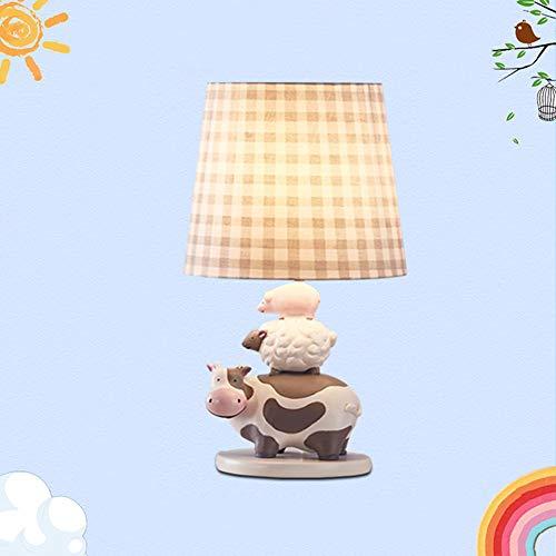 Schreibtischlampe für Kinder, Studie Tischlampe lesen Tier Nachttischlampe Haushalt Restaurant Cafe Dekoration Harz,White
