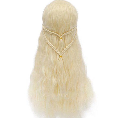J.Causd Dame Perücke 70CM Qualitativ Hochwertige Lang Synthetische Haar Perücken Frauen Perücke Für Cosplay / Karneval / Party (Daenerys Targaryen (Einfach Daenerys Kostüm)