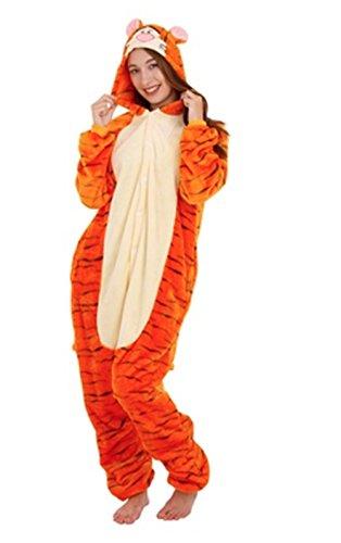 Costume Pigiama Adulti Donna Uomo Divertente Animali Stagione Moda Tigre X-Large