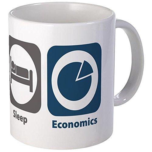 CafePress-Eat Sleep Wirtschaft-Tasse, keramik, weiß, Mega